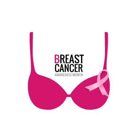 Projekt tła miesiąca świadomości raka piersi. Ilustracja wektorowa. Ilustracje wektorowe