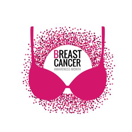 Breast Cancer Awareness Month background design. Vector Illustration.