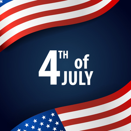 Happy independence day card United States of America. American Flag paper design, vector illustration. 矢量图像