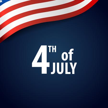 Happy independence day card United States of America. American Flag paper design, vector illustration. Ilustração Vetorial