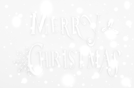 Christmas Greeting Card with Merry Christmas lettering