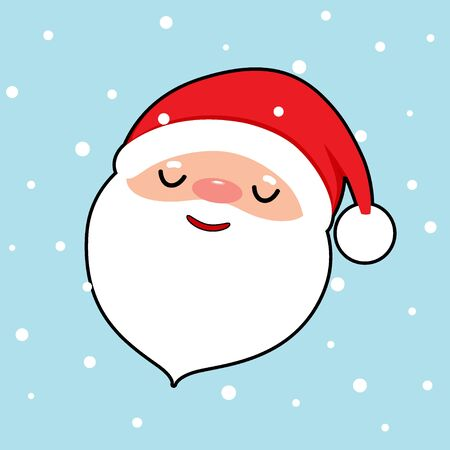 Santa Claus. Christmas background. Christmas Greeting Card. Vector illustration.