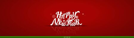 Christmas Greeting Card. Christmas Background with Happy New Year lettering, vector illustration. 일러스트