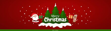Christmas Greeting Card. Christmas Background with Merry Christmas lettering, vector illustration. 일러스트