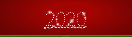 2020 Christmas Greeting Card. Christmas Background with Happy New Year and 2020 lettering, vector illustration. 일러스트
