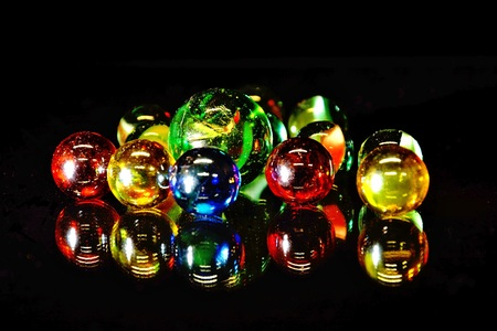 mirrored: mirrored glass beads