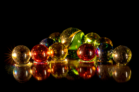 christmassy: colorful glass beads, Christmassy Stock Photo