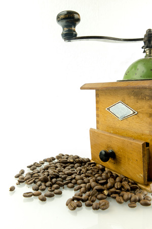 grinder: Coffee grinder with coffee beans