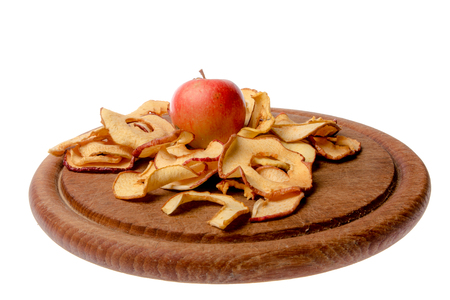 dried: dried apples Stock Photo