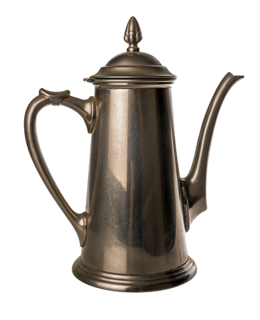 antique dishes: Coffeepot of tin