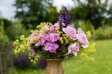 ladys mantle: Farmers bouquet from the garden