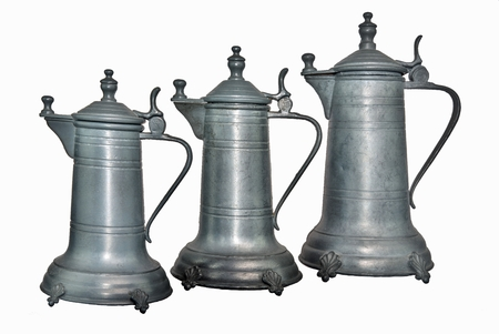 coffeepot: Old Coffeepot or wine decanter of tin