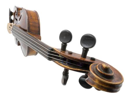 Old dark brown Violin isolated on white Standard-Bild - 116295620