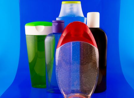 cleanser:   cosmetic containers Stock Photo