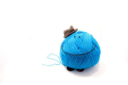 toy of threads, needles and buttons photo