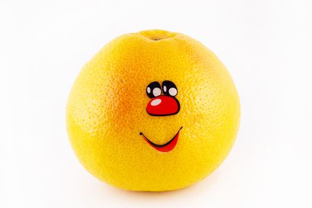 grapefruit with a smile