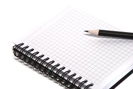 notepad and pencil on a white background Stock Photo - 5092638