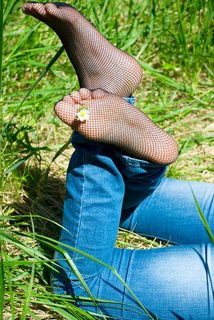 feet of young women photo