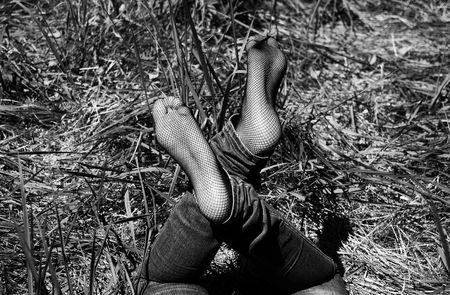 womans feet photo