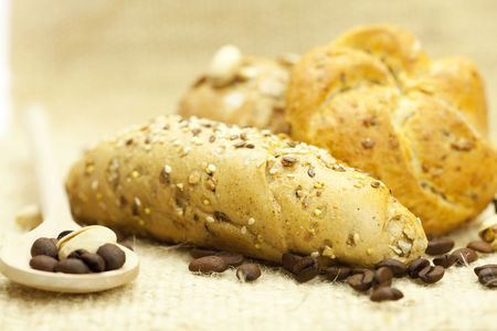 bread and coffee photo