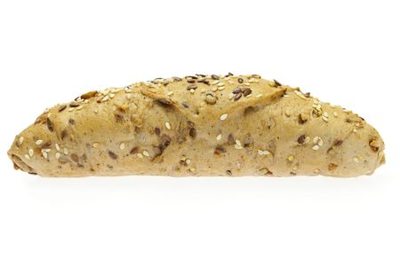 Bread isolated on white photo