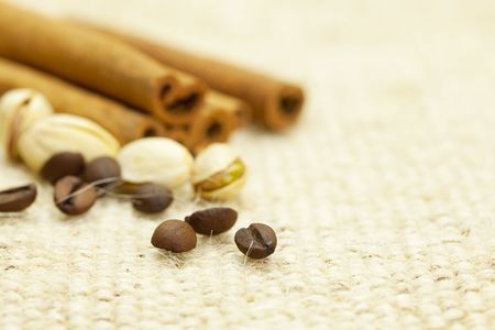 cinnamon and coffee photo