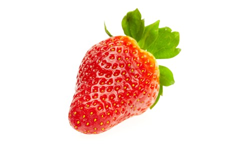 juicy strawberries isolated on white photo