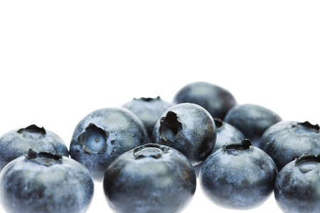 Bilberry isolated on white Stock Photo