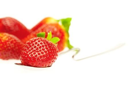 strawberry isolated on white photo