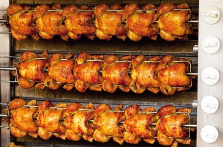 pan fried: Grilled chicken background