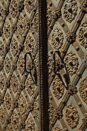 keep gate closed: forged iron door