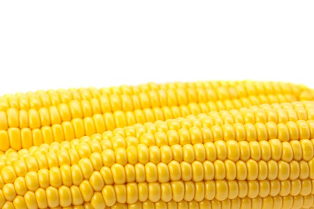 medium shot: Corn is isolated on a white Stock Photo
