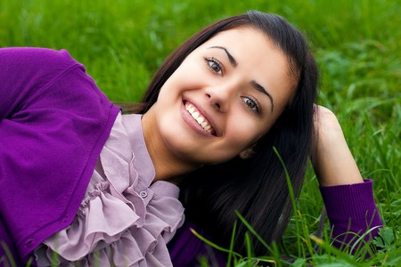 portrait of beautiful  teenager woman  outdoor Stock Photo - 8093990