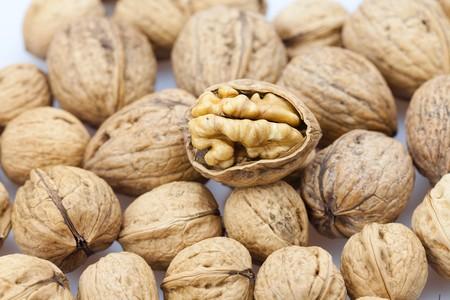 Walnuts background Stock Photo - 8184525