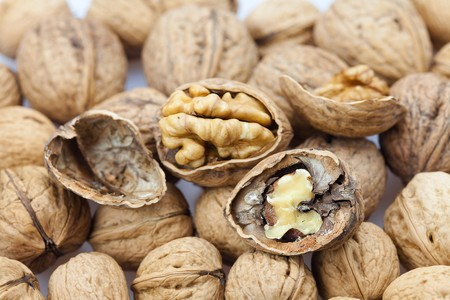 Walnuts background Stock Photo - 8184544
