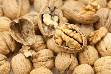 Walnuts background Stock Photo - 8184547