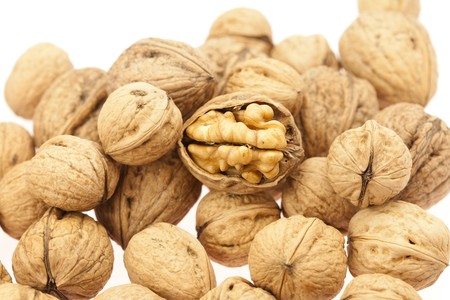 Walnuts isolated on white Stock Photo - 8184521