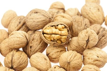 Walnuts isolated on white Stock Photo - 8184757
