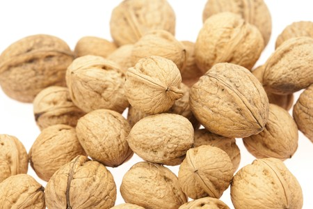 Walnuts isolated on white Stock Photo - 8184756