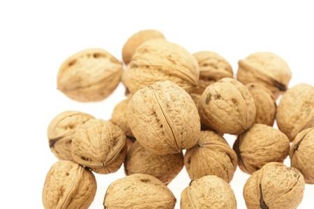 Walnuts isolated on white photo