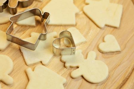 galletas: cortar el mu�eco de nieve de pasta, la casa, el coraz�n y la formas de cookies