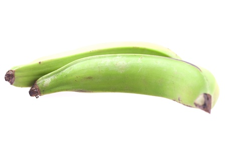 a large green plantains isolated on white photo