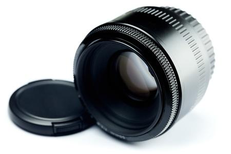 Lens isolated on white photo