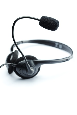headset isolated on white Stock Photo