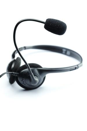 headset isolated on white Standard-Bild