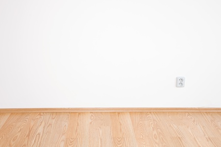 parquet floors: pulizia interna camera bianca di una casa di campagna Archivio Fotografico