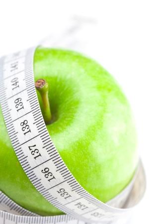 ?tapes: ruban Apple et mesure isol�e sur fond blanc