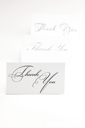 card signed thank you isolated on white Stock Photo - 9227477