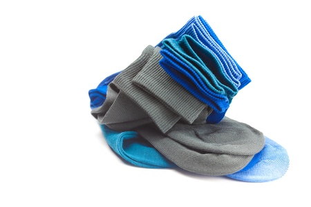 multi colored socks made of cotton isolated on white Stock Photo - 9227526