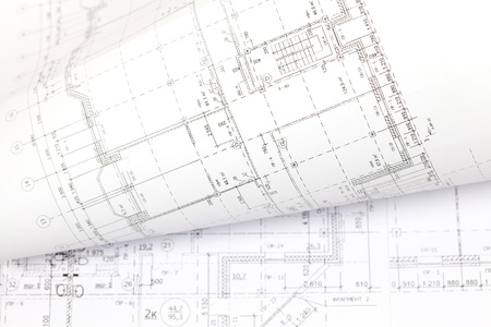 background of architectural drawing photo